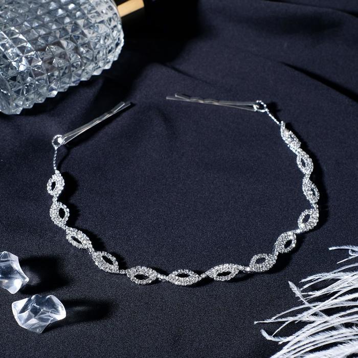 "Аксессуар для волос ""Жульет"" 27 см, серебро"