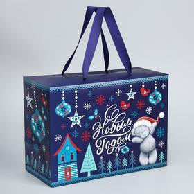 """Пакет-коробка """"С Новым Годом"""", Me To You, 20 x 28 x 13 см"""