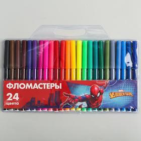 """Фломастеры 24 цвета """"Супергерой"""", Человек-Паук"""