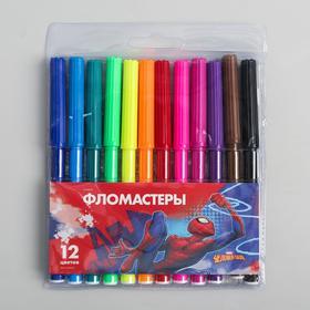 Фломастеры, 12 цветов, Человек-паук Ош