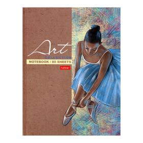 Бизнес-блокнот А5, 80 листов «Большой балет», твёрдая обложка, матовая ламинация, блок офсет