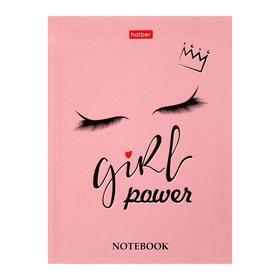 Бизнес-блокнот А6, 160 листов, Girl power, интегральная обложка, блок офсет