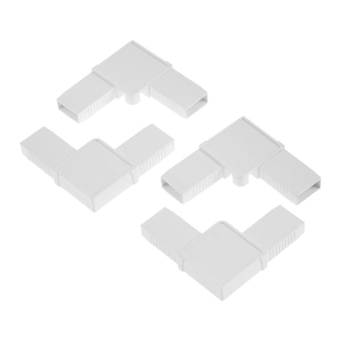 Соединительный уголок для профиля москитной сетки, 4 шт.