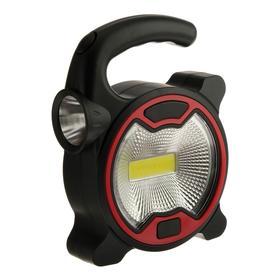 Прожектор светодиодный автономный Ritter, 5 Вт COB+1 Вт LED, 3xAA, 300 Лм + 80 Лм, IP23 Ош