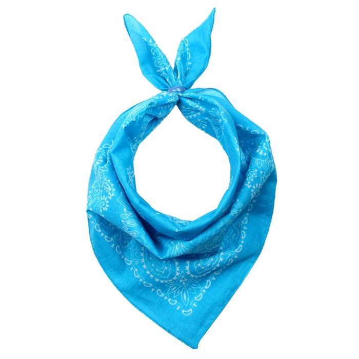 Платок женский, размер 50х50, цвет голубой