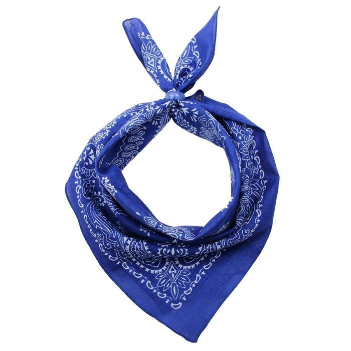 Платок женский, размер 50х50, цвет синий