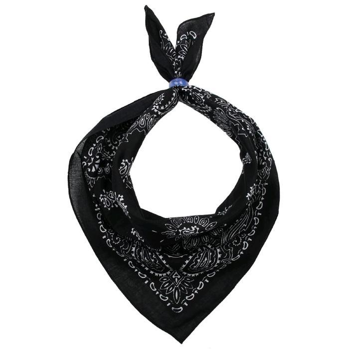 Платок женский, размер 50х50, цвет чёрный