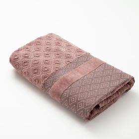 Полотенце махровое Этель,  цв. коричневый, 50*100 см. 670 гр/м2, 100% хлопок