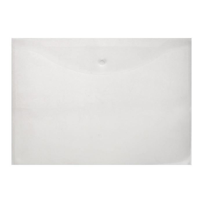 Папка-конверт на кнопке А3 OfficeSpace, 150мкм, прозрачная