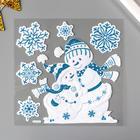 "Декоративная наклейка Room Decor ""Снеговики с блёстками"" 17,5х18 см"