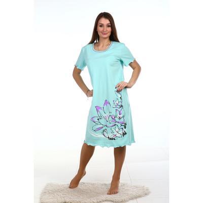 Сорочка женская, цвет ментол, размер 66
