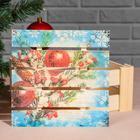 """Подарочная коробка реечная """"Ёлочная ветвь"""", 20х20х9 см, с крышкой, печать - Фото 3"""