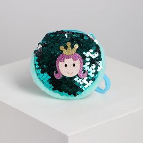 Кошелёк «Принцесса», на карабине, с пайетками, цвета МИКС Ош
