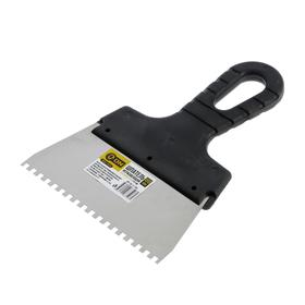 Шпатель ON 02-11-154, 145 мм, зуб 4 мм, нержавеющая сталь, ручка пластик