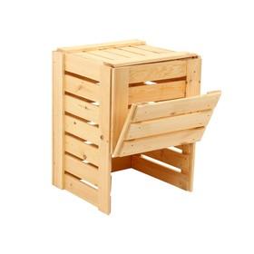 Компостер деревянный, 230 л, 60 × 60 × 85 см, с крышкой Ош