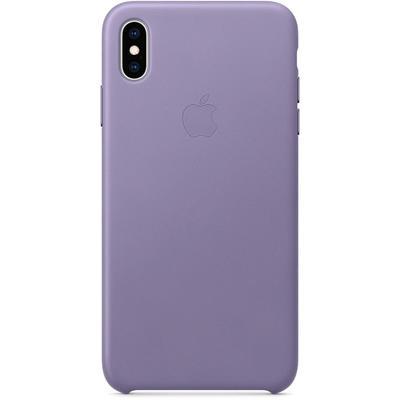 Чехол клип-кейс Apple для iPhone XS Max (MVH02ZM/A), кожаный, сиреневый