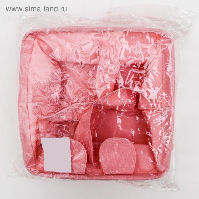 Корзина для хранения с ручками «Мишка», 20×11 см, цвет розовый