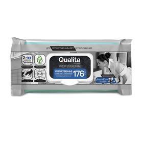 Влажные салфетки QUALITA, хозяйственные с пропиткой, 176 шт.