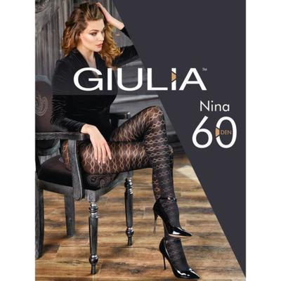 Колготки женские NINA 60 ден, цвет чёрный (nero), размер 2 (S) - Фото 1
