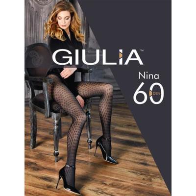 Колготки женские NINA 60 ден, цвет чёрный (nero), размер 2 (S)