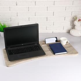 Подставка для ноутбука радиусная, 760х16х390, Сакура МДФ Ош