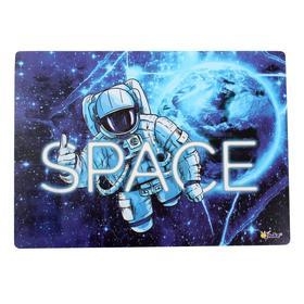 Накладка на стол, пластиковая, А4, 339 х 224 мм, «Оникс», КН-4, 500 мкм, «В космосе» Ош