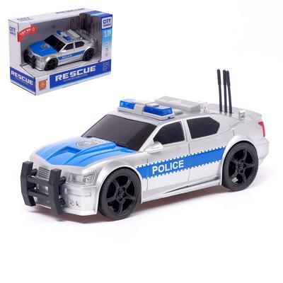 Машина инерционная «Полиция», 1:20, световые и звуковые эффекты - Фото 1