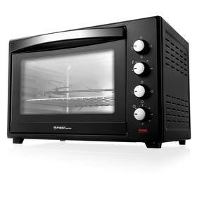 Мини-печь FIRST FA-5047 Black, 2200 Вт, 60 л, 6 режимов, гриль, конвекция, чёрная
