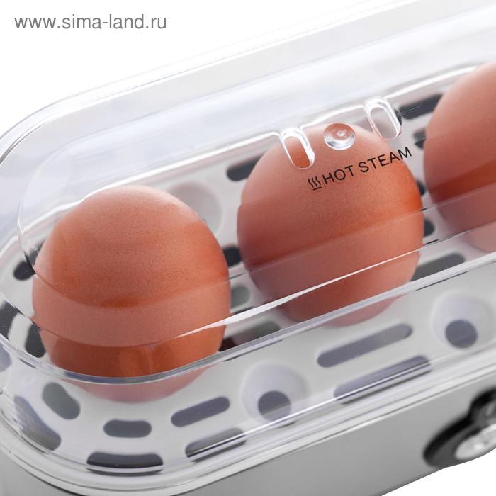 Яйцеварка FIRST FA-5115-2 black, 210 Вт, 1-3 яйца, подогрев, автоотключение, чёрная