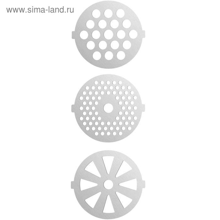 Мясорубка FIRST FA-5140-5 Stell, 1800 Вт, 3 насадки+кеббе, реверс, серебристая