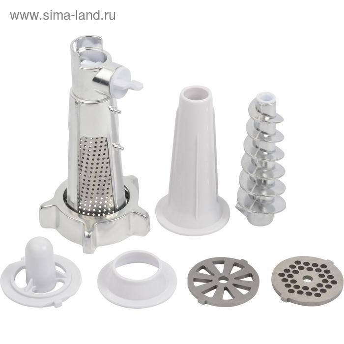 Мясорубка FIRST FA-5141-1 White, 1000 Вт, 3 насадки, соковыжималка, реверс, белая
