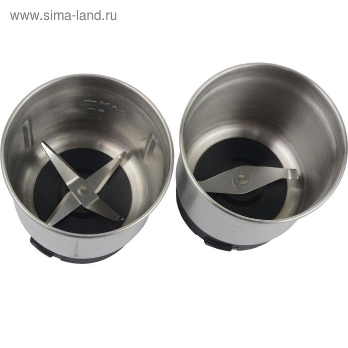 Кофемолка-чоппер FIRST FA-5486 Steel, электрическая, 200 Вт, 70 г, серебристая