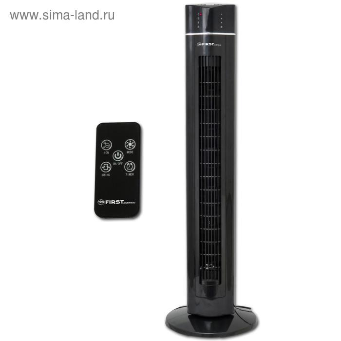 Вентилятор FIRST FA-5560-2 Black, напольный, 60 Вт, пульт дистанционного управления, чёрный   530511