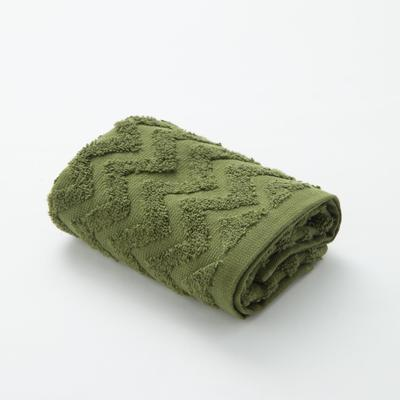 Полотенце махровое LoveLife Zig-Zag 30*60 см, цв. темная трава,100% хл, 360 гр/м2 - Фото 1