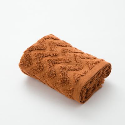 Полотенце махровое LoveLife Zig-Zag 30*60 см, цв. корица,100% хл, 360 гр/м2 - Фото 1