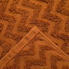 Полотенце махровое LoveLife Zig-Zag 30*60 см, цв. корица,100% хл, 360 гр/м2 - Фото 2