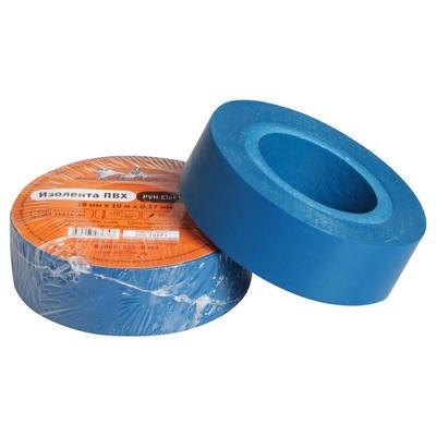 Изолента ПВХ, синяя, 19 ммх10 м