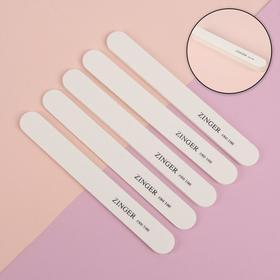 Пилки-наждаки, абразивность 80/100, 18 см, 5 шт, цвет белый, UT-401