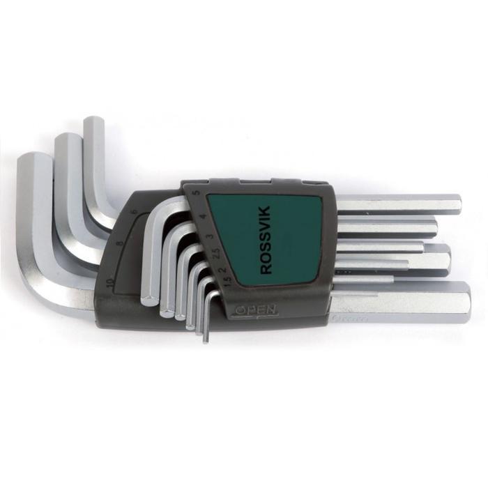 Набор ключей ROSSVIK ЕК000011086, 6-ти гранных, 9 предметов