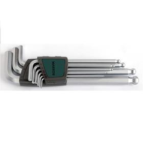 Набор ключей ROSSVIK ЕК000011087, 6-ти гранных, длинных с шаром, 9 предметов