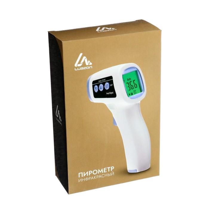 Пирометр бесконтактный LuazON LTR 002, инфракрасный, ЖК-дисплей, 2*ААА(не в комп), подсветка