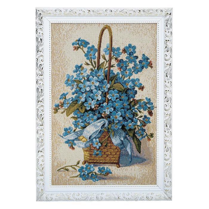 Гобеленовая картина Букет в корзине 28х38 см