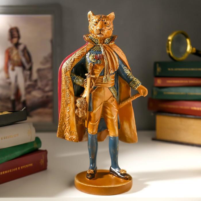 купить Сувенир полистоун Тигр в королевской мантии под дерево 27,5х10,5х15 см