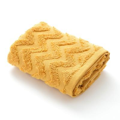 Полотенце махровое LoveLife Zig-Zag 50*90 см, цв. горчичный,100% хл, 360 гр/м2 - Фото 1