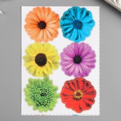 """Наклейки Decoretto """"Разноцветные цветы"""" 17х23 см - Фото 1"""