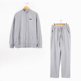 Комплект мужской (толстовка, брюки), цвет меланж, размер 56 Ош