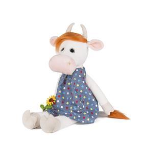 Мягкая игрушка «Коровка Глаша в платье с цветочком», 23 см