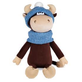 Мягкая игрушка «Бычок Василий в шарфе и шапке», 33 см
