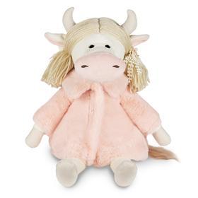 Мягкая игрушка «Коровка Варвара в розовой шубке», 27 см