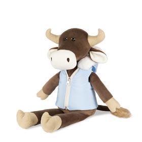Мягкая игрушка «Бык Гаврила в пуховой жилетке», 23 см